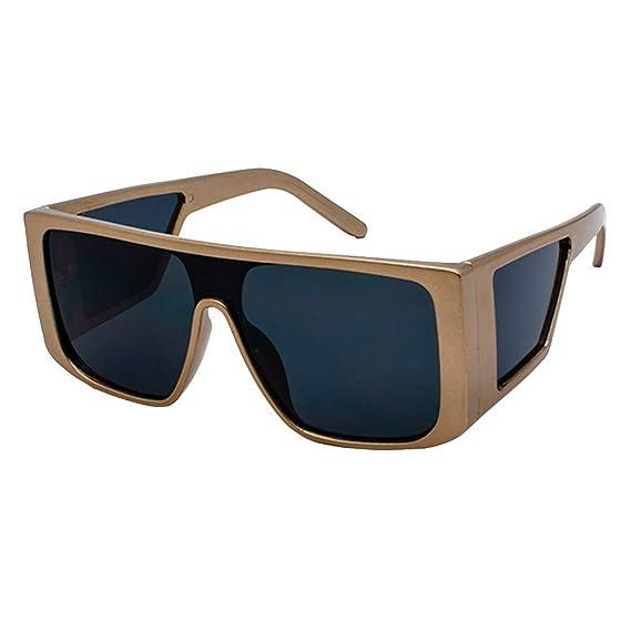 JiXuan Gafas de sol Rectangulares de gran Tamaño Hombres de ...