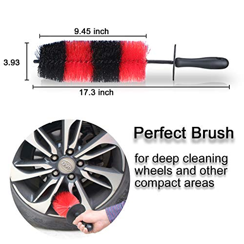 Brushes & Dusters Wheel Brush Long Soft Car Wheel Brush Rim Tire Brush Multipurpose Use for Cars Motorcycles Bicycles