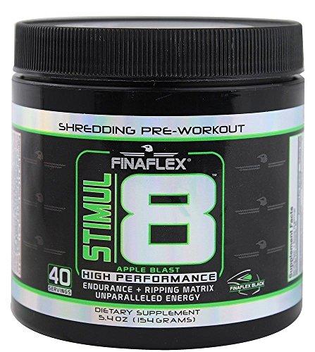 Stimul8 Apple Blast by FinaFlex- Energy and Endurance Pre-Workout (40 Servings)