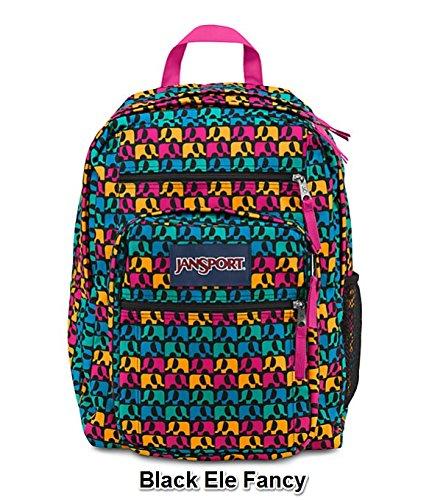 JanSport Big Student Boy Prints Backpack B1027: Black Ele Fancy