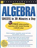 Algebra Success in 20 Minutes a Day, LearningExpress Editors, 1576854868