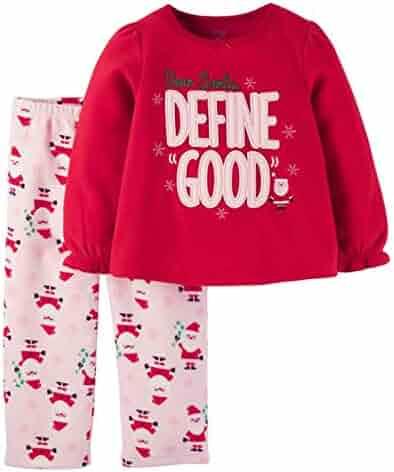 6d2cd59a7 Carter's Infant Toddler Girl Red Fleece Define Good Sleepwear Set Pajamas  PJs