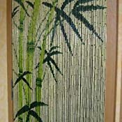 Bambusvorhang Turvorhang Motiv Bamboo Amazon De Kuche Haushalt