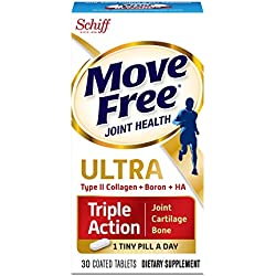 Move Free Ultra Triple Action, 30 tablets - Joint Health Supplement with Type II Collagen, Boron and HA