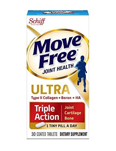 Déplacer gratuit Ultra Triple Action conjointe supplément avec le collagène de Type II, l'acide hyaluronique et bore pour Joint, Cartilage et OS Support, 30 comprimés