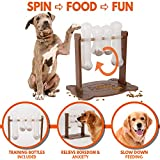 Pupper Pamper Interactive Dog Toy - Treat Dispensing Dogs Puzzle Toys - Anxiety Relief Smart Dog Game for Medium/Large Dogs - Refillable Food Tough Dog Toys for Training (Large, Brown)