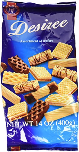 Filled Cookie Wafer - Hans Freitag Desiree Assorted Wafers, 14 Ounce