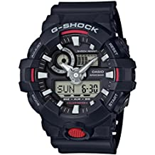 Casio Men's 'G Shock' Quartz Resin Casual Watch, Color:Black (Model: GA-700-1ACR)