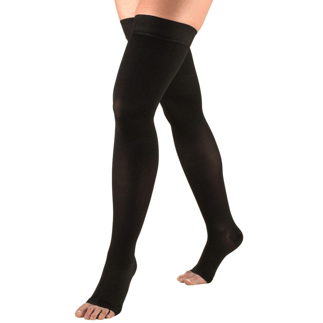 Sira Medical Antiskid Open Toe Varicose Stocking, Grade-l (15-21mmHg) Above Knee Lower Pressure, Reduce Leg & Calf Pain & Swelling, Varicose Veins Socks, Compression Socks for Veins.(M/L/XL/XXL)