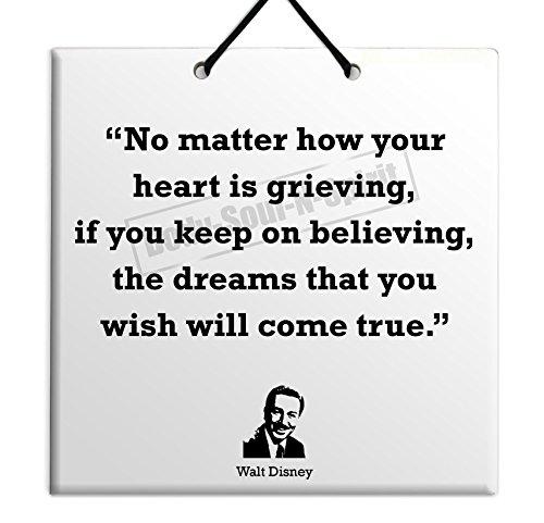 Walt Disney - Quote Ceramic Wall Hanging 15x15 CM -
