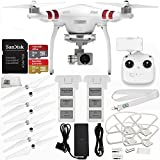 DJI Phantom 3 Standard with 2.7K Camera and 3-Axis Gimbal & Manufacturer Accessories + DJI Flight Battery + SanDisk Extreme 32GB microSDHC Memory Card + Quick Release Snap On/Off Prop Guards + MORE