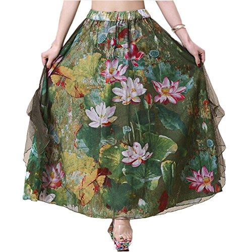 Blancho Belle Femme Jupe Jupe longue Jupe de bohme Color