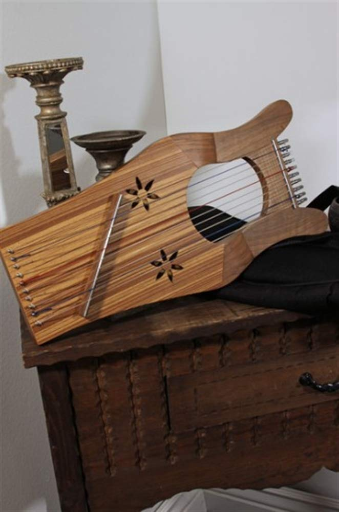 Mini Kinnor King David's Harp Lyre - Light Walnut & Ash by Mid-East