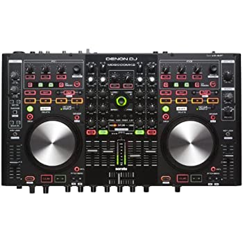 Denon DJ MC6000MK2 | Premium Digital DJ Controller & Mixer with full Serato DJ download (4-Channel / 4-Deck / 8-Source)