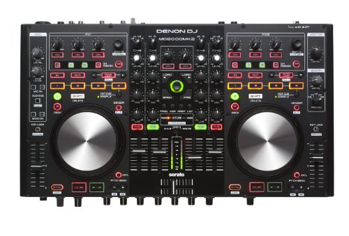 Denon DJ DNMC6000MK2  | Premium Digital DJ Controller & Mixer with full Serato DJ download (4-Channel / 4-Deck / 8-Source)