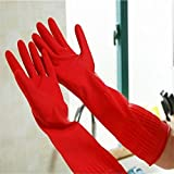 Gold Happy Rubber Latex Dish Washing Cleaning Long Gloves Household Kitchen Glove Nov24 Extraordinary