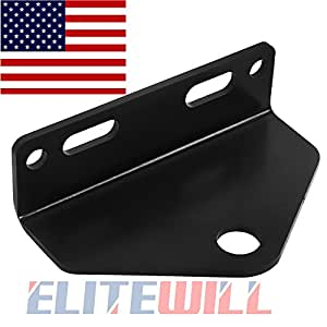 "Zero Turn Mower Trailer Hitch 5"" Outside Holes Centers --BLACK"