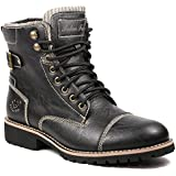 Polar Fox JAMES MPX808571F Men'S Lace Up Cap Toe Military Combat Work Desert Ankle Boot
