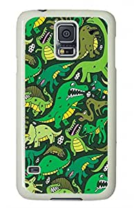 DIY Protective Case Cover for Samsung Galaxy S5,Green Dinosaur Pattern Case Shell for Samsung Galaxy S5 5 Generation,Green Case for Samsung Galaxy S5