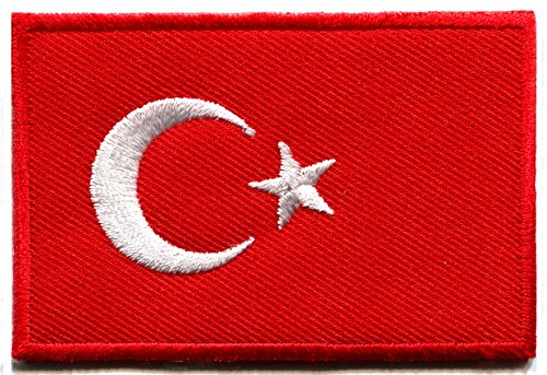 Flag of Turkey Turkish star crescent moon embroidered applique iron-on patch new