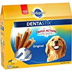 PEDIGREE DENTASTIX Large Dog Chew Treats, Original, 32 Treats by Dentastix