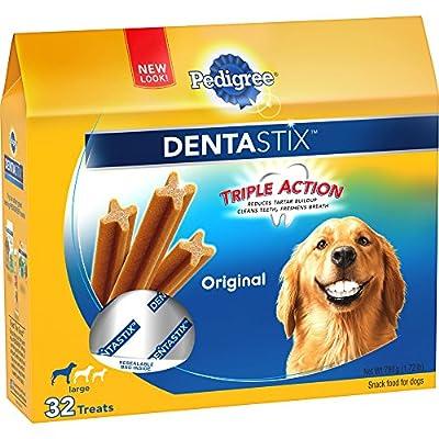 PEDIGREE DENTASTIX Large Dog Chew Treats, Original, 32 Treats by Dentastix