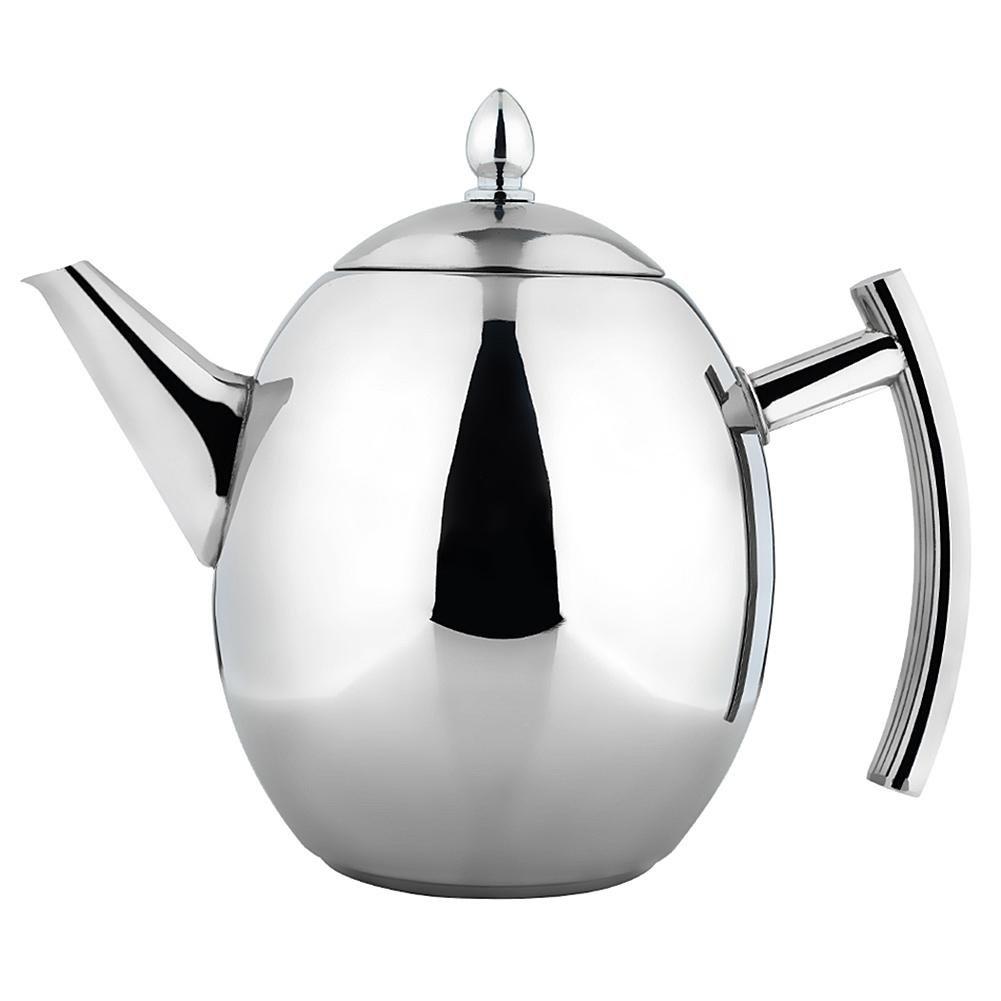 Acquisto Kbsin212teiera in Acciaio Inox, Acciaio Inossidabile Oliva Tipo caffettiera bollitore con infusore e Coperchio per tè, tè Verde, caffè, Acciaio Inossidabile, Color, B:1.5L Prezzi offerta