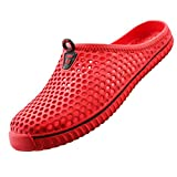 lewhosy Unisex Women's Men's Garden Clog Shoes Sandals Slippers(40/red)