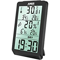 AMIR Digital Indoor Humidity Gauge with Backlight Humidity Monitor Sensor