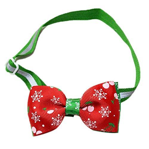 JIKUO Distinctive Adjustable Dog Bow Collar Christmas Pet Decor Supplies ()