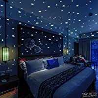 Glow In The Dark Stars Wall Stickers, 332 Adhesive...