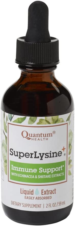 Quantum Health Super Lysine + Immune Support, Liquid Extract Drops - Vitamin Supplement to Boost Immunity, Enhanced Bioavailability - 2 Oz