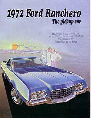 (1972 Ford Ranchero Sales Brochure Literature Book Piece Advertisement Options)
