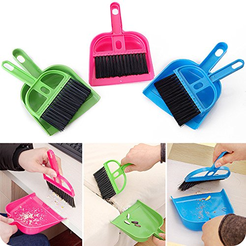 Home Cleaning Supplies - Mini Portable Plastic Dtpan Computer Keyboard Handle Brh Set Soft Cleaning Sweeper Hand Kitchen Dt Pan - 1PCs