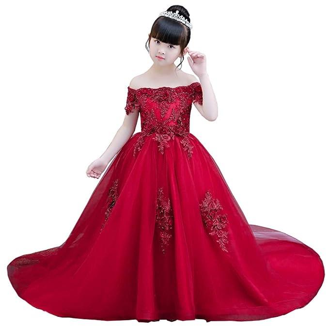 Eliza Largo Vestido Palabra de Longitud para niñas. Ocasiones: Ceremonia de Primera comunión,
