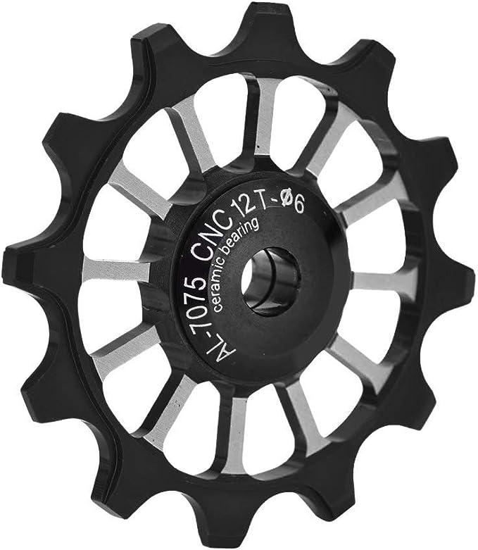 6mm Soporte 7//8//9//10 Desviador de la Bicicleta Polea 12T Aluminio de cer/ámica Rueda Jockey Ajuste Trasero Tornillos de 4//5