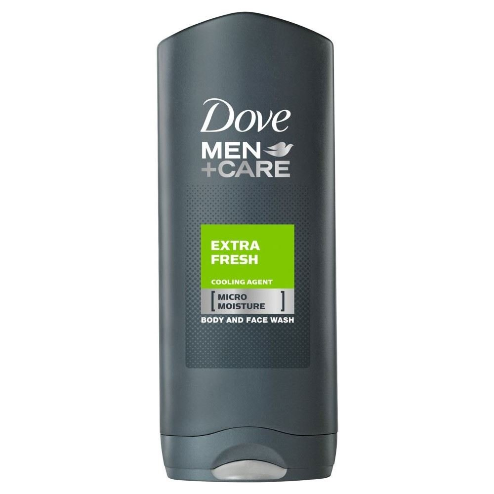 Dove Men + Care Extra Fresh Cooling Agent Body & Face Wash (400ml) - Pack of 2
