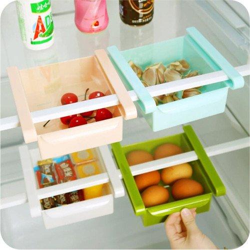 Plástico Cocina Frigorífico Fresh multiuso de almacenamiento Rack ...