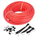 Maximm Cat6 Snagless Ethernet Cable - 200 Feet - Red - Pure Copper - UL Listed - Cable Ties Included