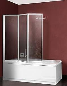 Mampara ba era de acr lico puertas plegables 3 altura 140 - Anchura banera ...