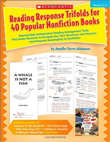 Amazon Com Reading Response Trifolds For 40 Popular Nonfiction