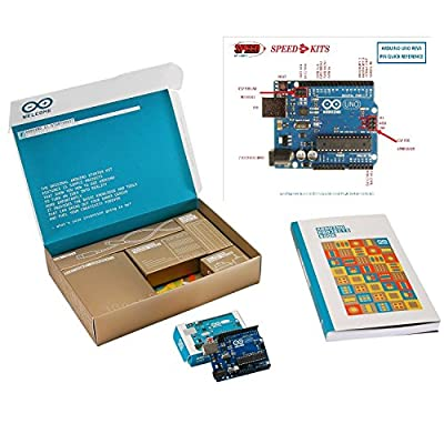 Arduino Starter Kit Deluxe Bundle with SPEED-KITS PIN-OUT Chart - Genuine Arduino.cc from Arduino.cc