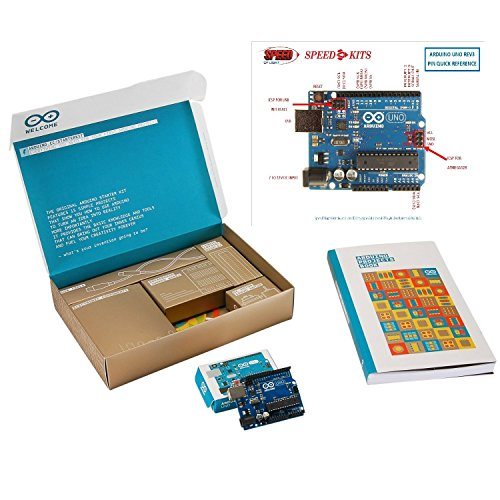 Arduino Starter Kit Deluxe Bundle with SPEED-KITS PIN-OUT Chart - Genuine Arduino.cc by Arduino