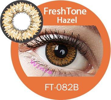 Farbige Kontaktlinsen Jahreslinsen braun hellbraun haselnuss