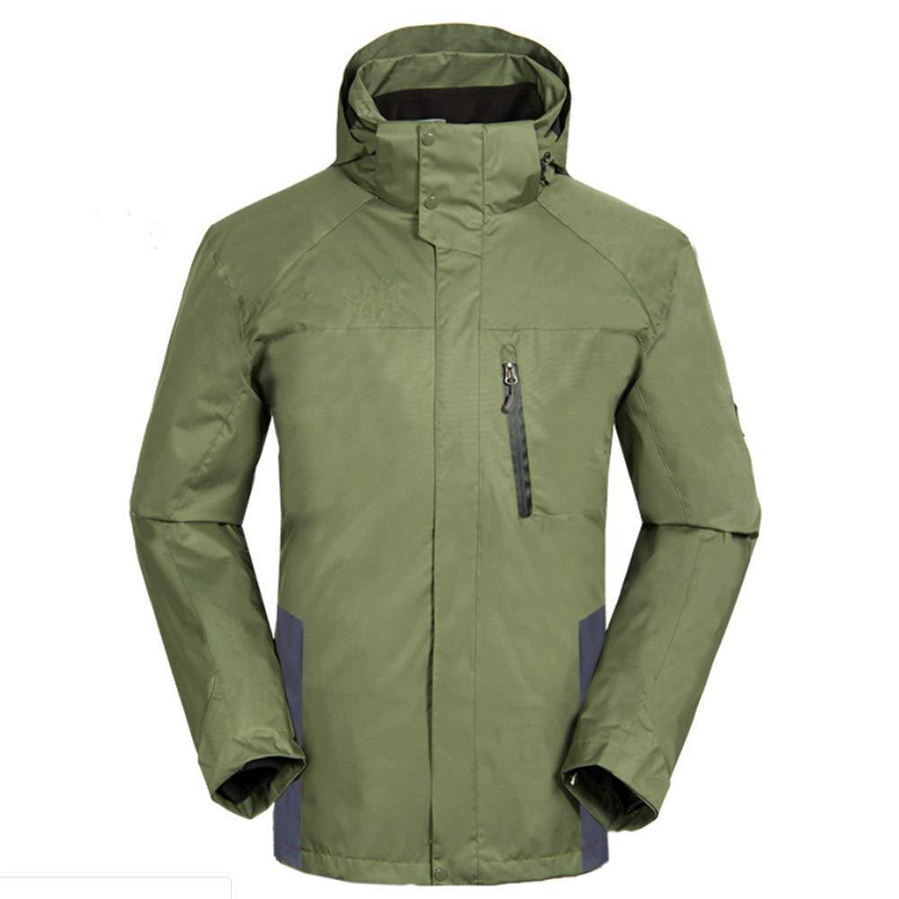 vert XS SCYTSD Manteau Coupe-Vent Imperméable Et Chaud avec des Poches Zippées - Veste De Pluie Légère - pour Temps Humide Et DéplaceHommests