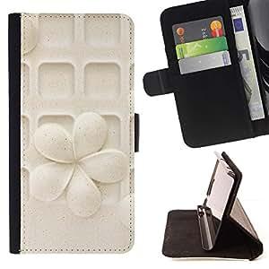 Momo Phone Case / Flip Funda de Cuero Case Cover - Modelo de flor en colores pastel Arte tallado - Samsung Galaxy Note 5 5th N9200