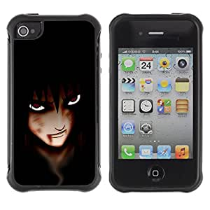CAZZ Rugged Armor Slim Protection Case Cover Shell // Anime Vampire Eyes // Apple Iphone 4 / 4S