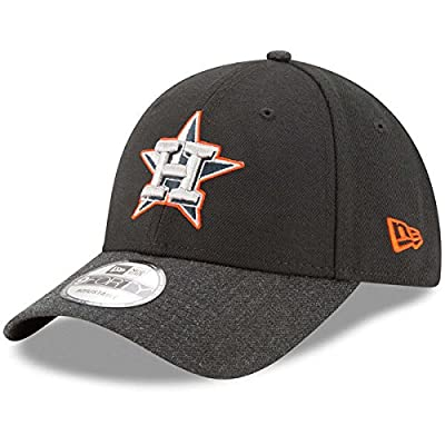 Houston Astros New Era Heathered The League Black Adjustable Hat/Cap
