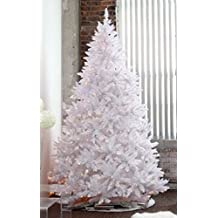 7' Sparkling White Christmas Tree with LED light and Metal Stand (7ft stringl light)
