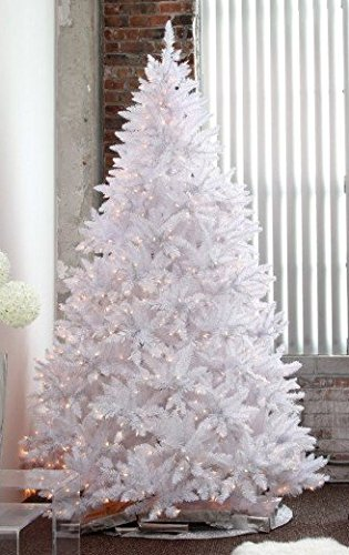 White Christmas Tree.Holiday Stuff 6 Feet Pre Lit Sparkling White Christmas Tree With Warm White Led Lights Super Full Shape 6ft Prelit